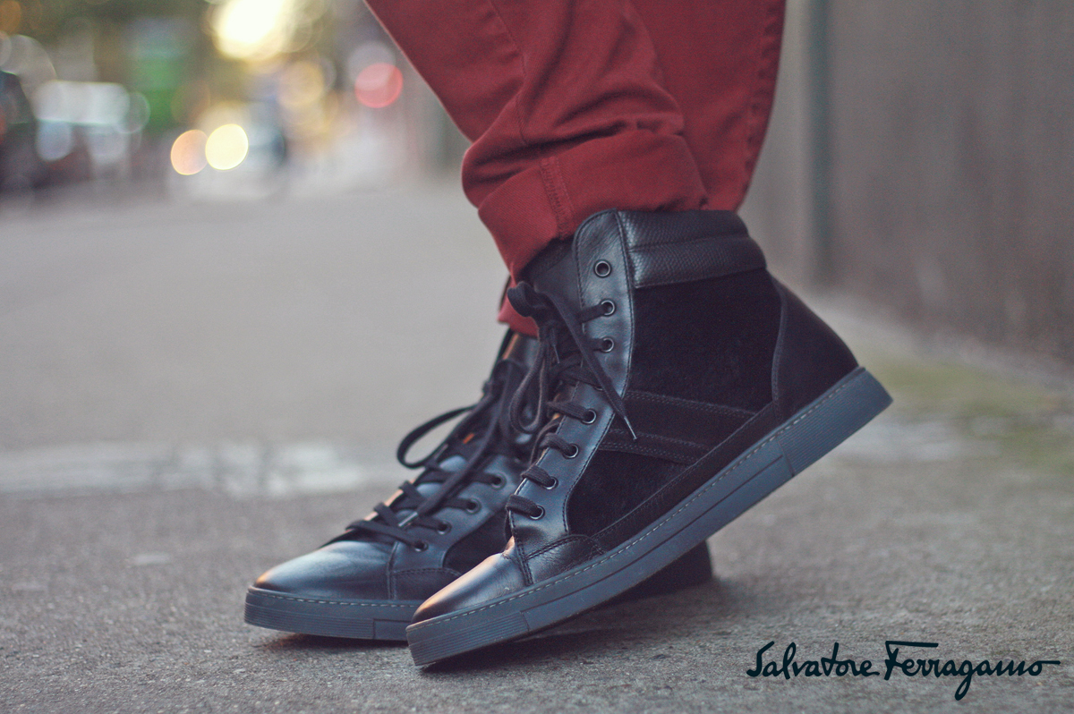 Salvatore Ferragamo - High Top Sneakers - Scout Sixteen