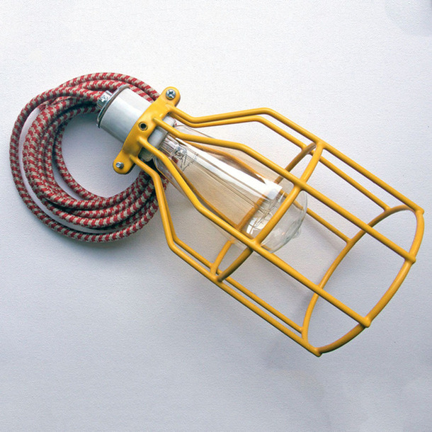 Yellow Cage Lamp