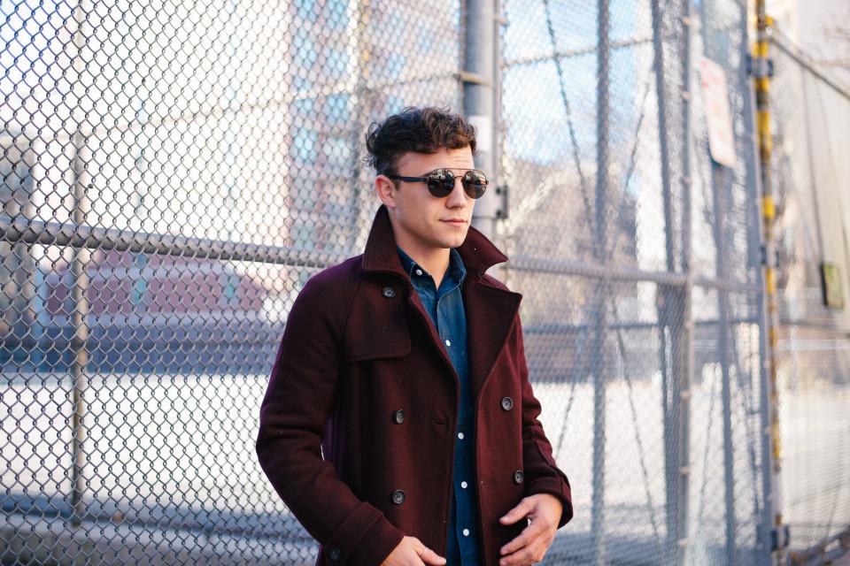 Scout Sixteen - Topman Burgundy Coat