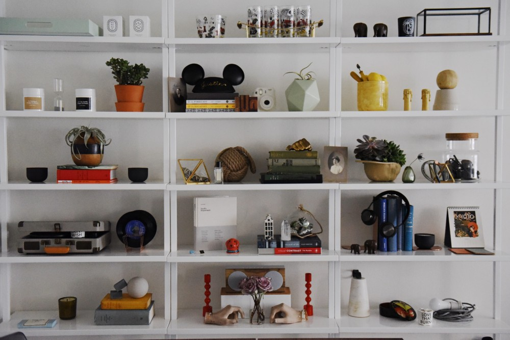 Scout Sixteen - How To Take The Perfect Shelfie with CB2 Stairway Bookcase