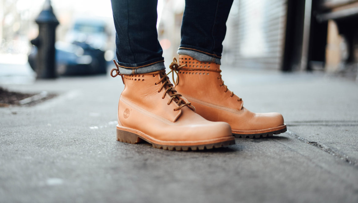 New York Men's Fashion Blogger Justin Livingston wearing the Timberland Bare Naked 6-Inch Premium Boots