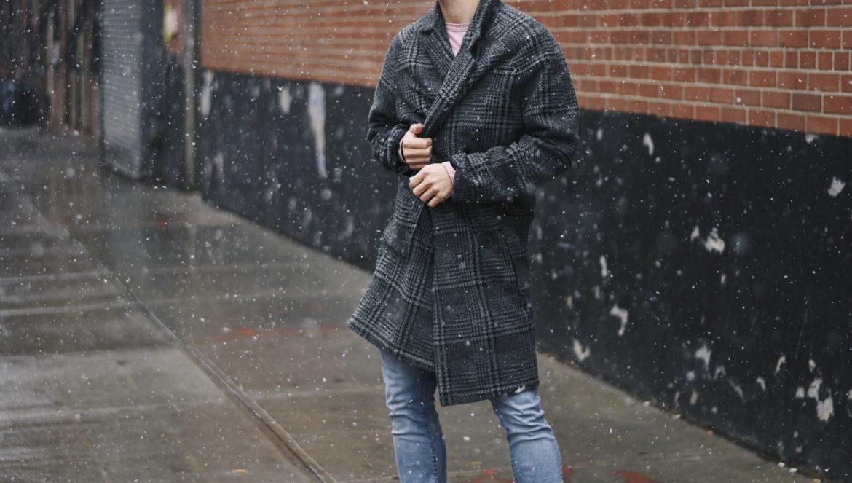 New York Men's Fashion Blogger Justin Livingston wears Prada Men's Hiking Boots with Buckle