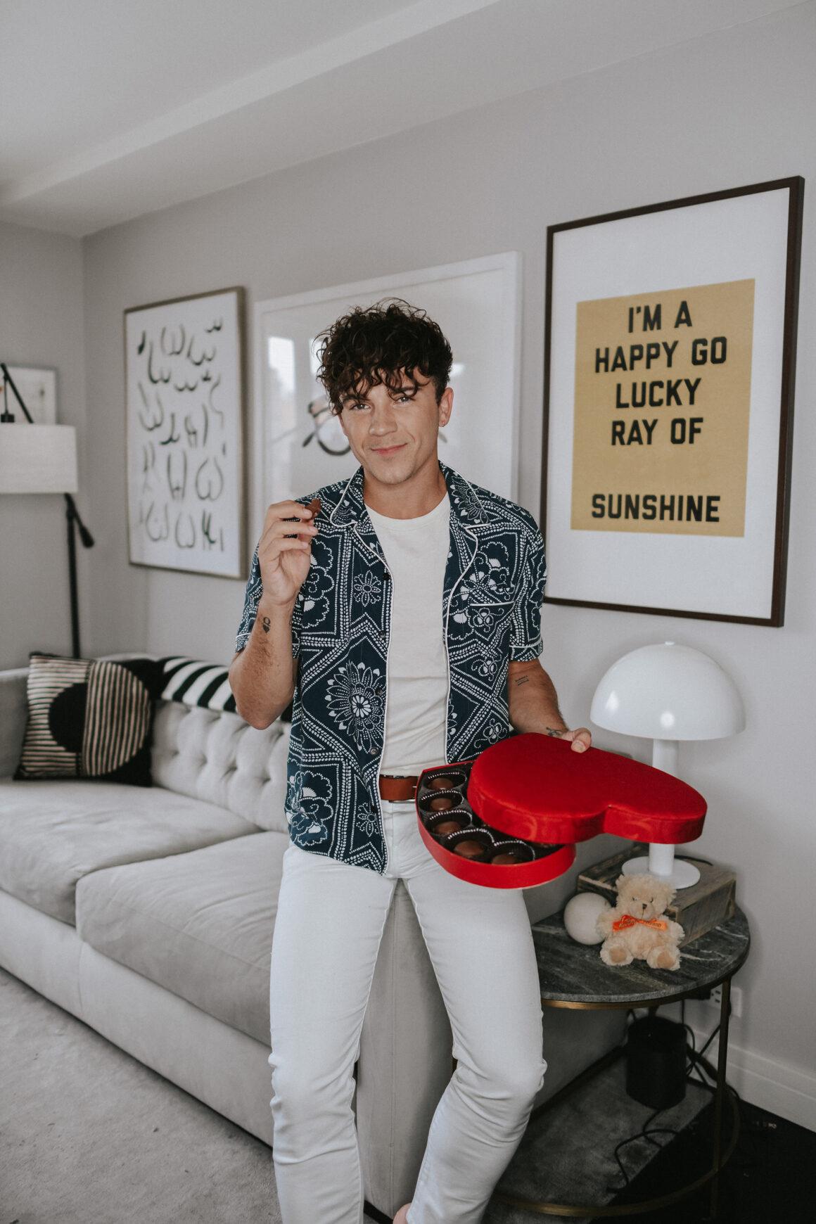 Justin Livingston Men's Levi's Bandana Shirt Valentine's Day