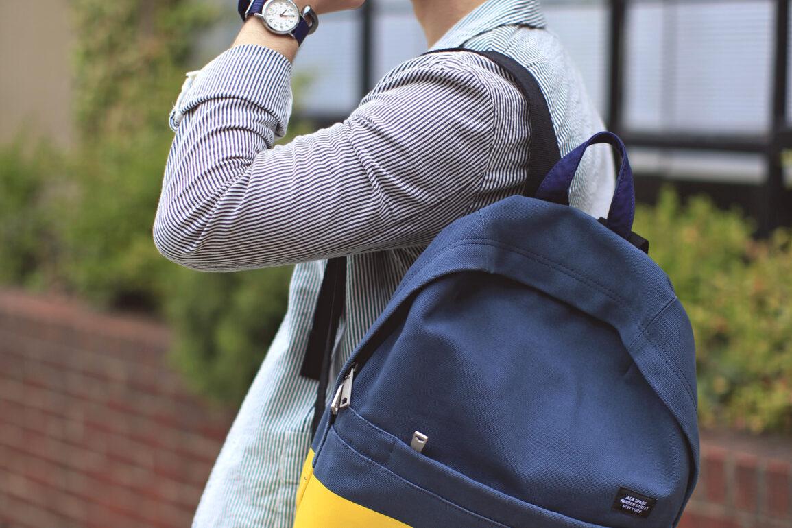 Scout Sixteen - Jack Spade Backpack / Riviera Club Blazer / Rag & Bone Jeans