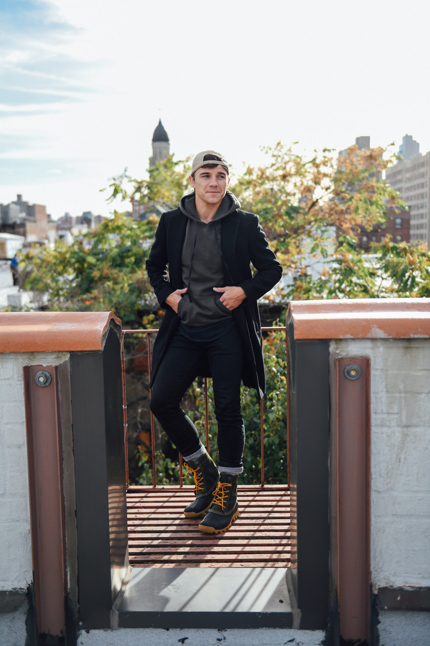 Men's Fashion and Lifestyle Blogger Justin Livingston wears Kamik Yukon 6 boots from Zappos in New York City