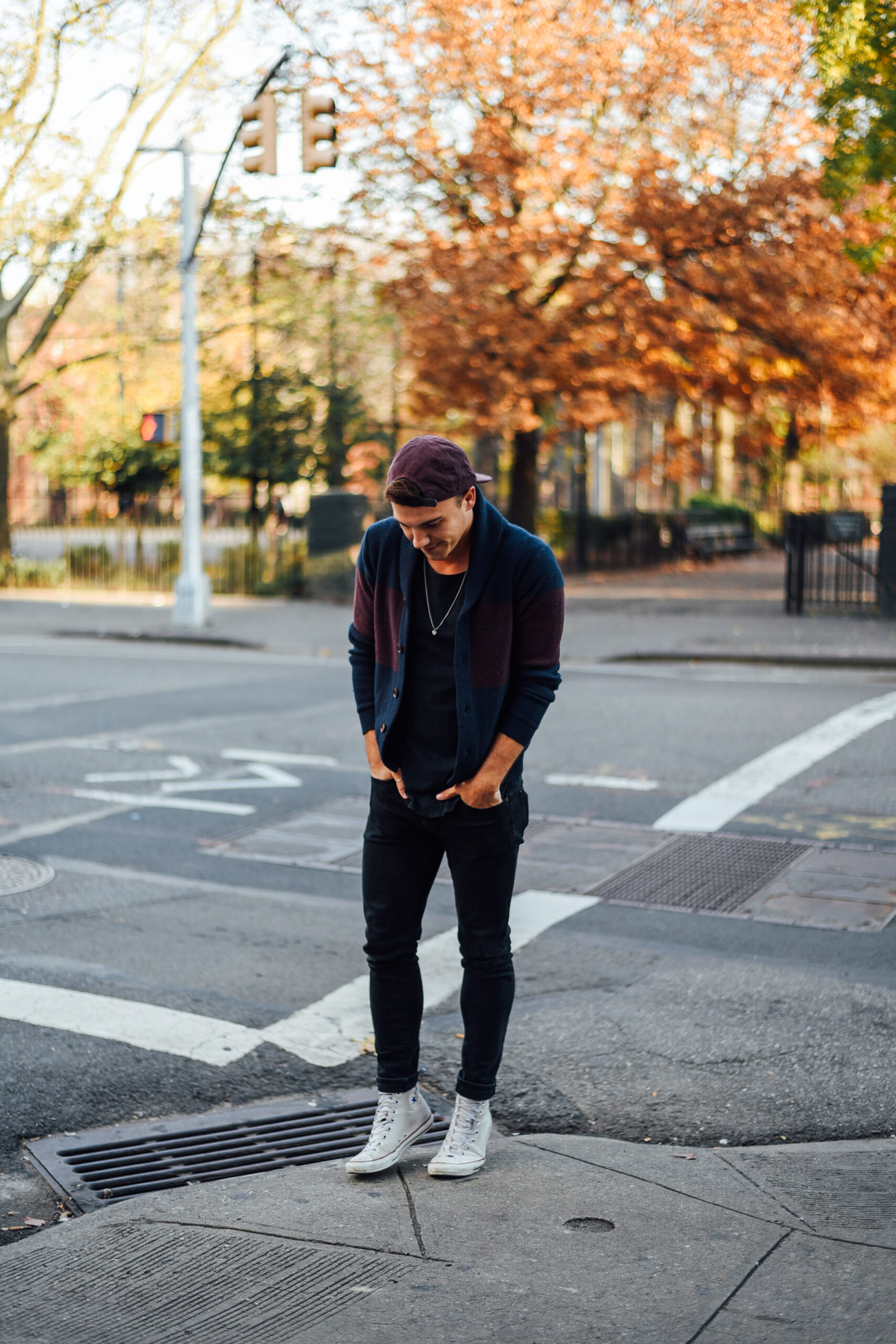 Menswear blogger Justin Livingston wears AXE Anti-Marks Deodorant