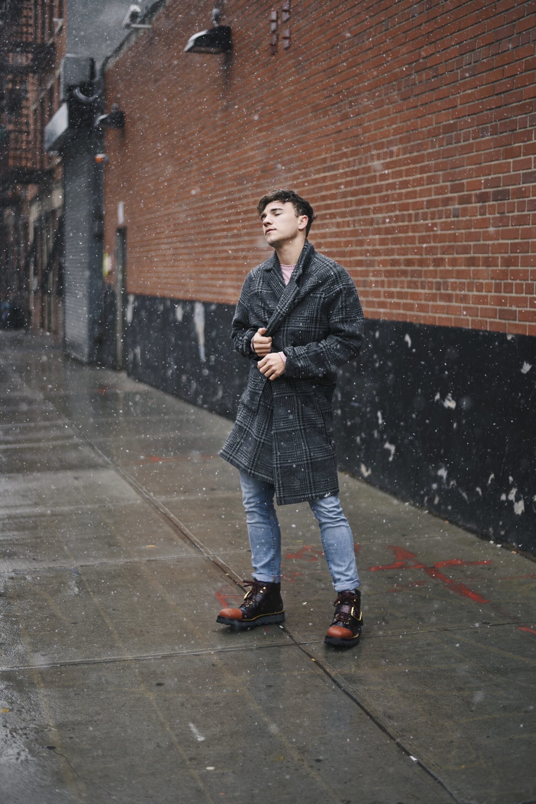 New York Men's Fashion Blogger Justin Livingston wears Prada Men's Hiking Boots with Buckle