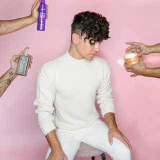 Justin Livingston Men's Curly Hair Routine